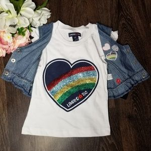 Limited Too Rainbow Hearts Vest & Shirt